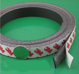 Wholesale 3M Adhesive rubber magnet size of m L mm W mm T adhesive rubber magnet strip glue magnet strips