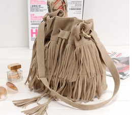 Free shipping Tassel Messenger Bag Vintage Women Bags Leather carving Mini Bag wax paper travel bag