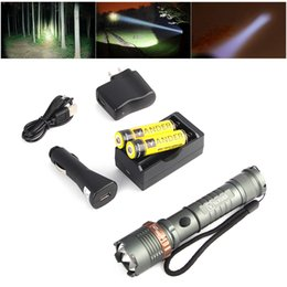 Wholesale 2016 Hot Sale Brand New LM T6 LED Flashlight Adjustable Focus Torch Battery Charger Car Charger