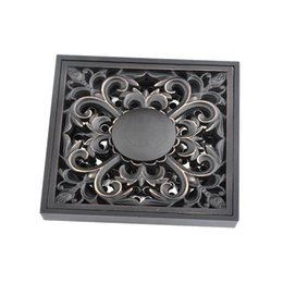 Durable metal ware with thick environmental quality double floor drain black bathroom floor drain 250mm 160313#