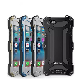 Wholesale Life Cell Phone Cover - IP68 Waterproof R-JUST Gundam Aluminum Metal Life Powerful capa Cover Case For iPhone 6 Plus Original Cell Phones Case Bag