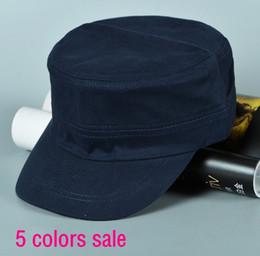 Compra Online Sombreros casual para los hombres-Popular del diseñador en blanco Strapback ajustable Ejército Cap Llanura de algodón sombreros para los hombres para mujer del cráneo parasol Negro Armada café amarillento del color verde