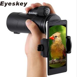 Wholesale 12x50 Eyeskey Telescope Monocular Waterproof Bak4 Hunting Telescope Focuser with Tripod Cell phone Adapter and Hand Strap