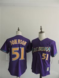 Wholesale Arizona Diamondbacks Mens Jerseys Randy Johnson Purple Baseball Jersey Stitched Name And Number