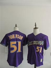 Wholesale Arizona Diamondbacks Mens Jerseys Randy Johnson Purple Baseball Jersey Stitched Name And Number