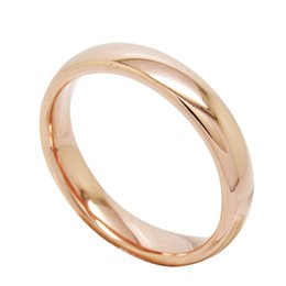 4mm Women Ladies Tungsten Bands High Polish rose gold plated tungsten carbide wedding ring 510