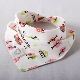 Baby bibs New Arrival triangl double layers cotton baberos Cartoon Character Animal Print baby bandana bib dribble bibs