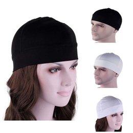 Wholesale Solid Adult Casual New Women Men Spandex Dome Cap Biker Football Helmet Liner Sports Beanie Skull Hat