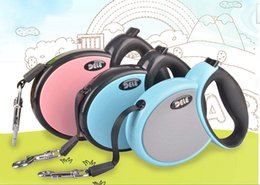 Wholesale Best Selling High Quality Solid Color Environment PP Material Hand Auto Retractable Nylon Dog Leash with Metal Hook