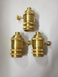 Wholesale vintage Edison bulb chandelier light Hanging brass lamp holder edison incandescent bulb lamp holder Antique E26 E27 light sockets with switc