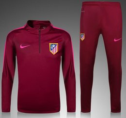 Wholesale survetement football Atletico Madrid training suit football tracksuit maillot de foot camisetas chandal futbol pants jogging jerseys