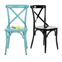 Wholesale IKAYAA Industrial Style Metal Kitchen Dining Breakfast Chair Stool Ergonomic Design H16844