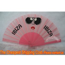 Wholesale Custom cm Advertising Fan Plastic Fabric Folding Hand Fans Many Colors Fan Ribs For Choice Please Consult one design