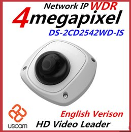 HIKVISION English Version DS-2CD2542FWD-IS 4MP Mini dome IR Up to 10m IR Network WIFI Camera Full HD1080p POE camera WDR