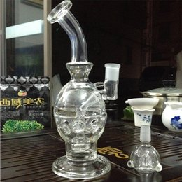 """Two functions Water Pipe Bong Water Glass Bong with Tornado Cyclone perc 10"""" Fritted disc Perc Free Shipping"""
