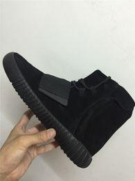 TOP Kanye West 750 Boost All Black /