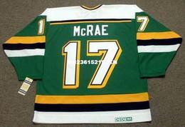 Wholesale Cheap custom retro BASIL McRAE Minnesota North Stars CCM Vintage Away Jerseys Throwback Mens stitched Hockey Jersey
