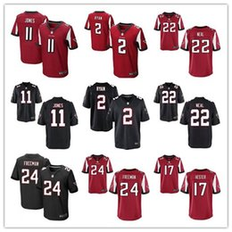 Wholesale Men Elite Atlanta Football Jerseys Falcons Devonta Freeman Julio Jones Matt Ryan Red Black Jerseys cheap rugby shirt