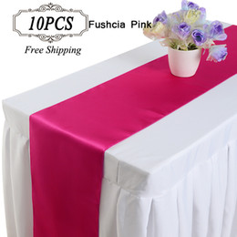 10PC 30X275cm Satin Table Runners of Weddings Decor  Satin tablecloth modern table runner table flag in Event & party Supplies