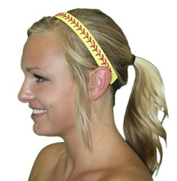 Wholesale red leather basketball yellow scarf stretch headband softball sports men and women free shipping
