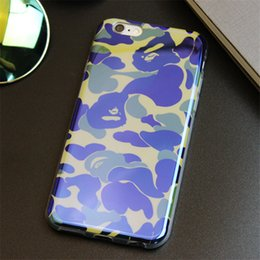 Camouflage Style Cell Phone Cases Blue Pink Phone Covers with High Quality TPU for iphone 6s 5S 74