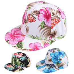 Flower Snapback Hat Cap Floral Print Baseball Cap 3 Colors Free Shipping Free Shipping