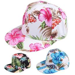 Flower Snapback Hat Cap Floral Print Baseball Cap 3 Colors Free Shipping Free Shipping