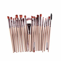 Mybasy 2017 New High end Trend Eyeshadow 20pcs Make Up Brushes kit for Eyeshadow,lip,detail Beauty brushes and makeup tools