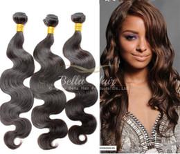 18 black hair à vendre-Human Dyeable Cheveux bleachable 8A Cheveux Bundles péruvienne Cheveux Weave Extensions Naturel Noir Couleur des cheveux Double Trame Bella cheveux Livraison gratuite