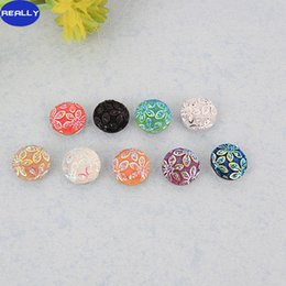Fashion Mixed Color 18mm Copper Snap Jewelry Charm Resin With Bauhinia Flower Styles Button rivca Ginger Snap Jewelry