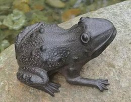 Wholesale Rustic Cast Iron Frog Stepping Stone Garden Accent Metal Yard Decor Amphibian Vintage Frog Paperweight Figurine Free Ship