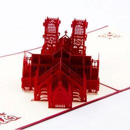 Wholesale Westminster Abbey souvenir cards D postcards handmade folding congratulation cards quot x0 quot