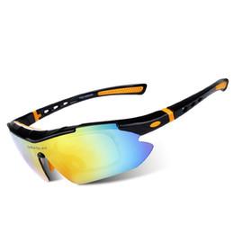 Acheter en ligne Pc hd-5pcs Lens Set Polarized Cycling Sunglasses 2016 HD Wind-proof Night Version Lunettes de cyclisme pour hommes / femmes