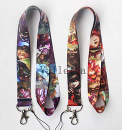 Wholesale New Online game League of Legends Cell Phone key chain Neck Strap Keys Camera ID Card Lanyard