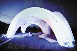 Wholesale beautiful white dome shaped inflatable gallery tent inflatable arch tent for event stage party with lighting
