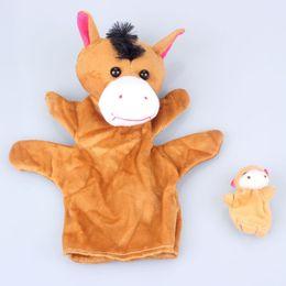 Wholesale Best seller Horse Soft Animal Finger Puppet Baby Infant Kid Toy Plush Toys Mar8