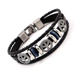 Le commerce de la peau à vendre-Commerce extérieur Européen De Vent Paix Marques Bracelet Multi-étages Bracelet De Peau Bracelet Hommes Et Femmes Ornements