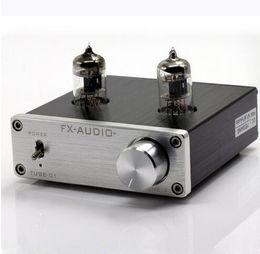 Wholesale FX AUDIO TUBE DC12V A Bile Preamp Tube Amplifier Buffer J1 HIFI Audio Preamplifier preamplificador Silver