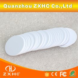Wholesale mm Ntag216 Ntag215 is compatible NFC Tag Round Shape Coin Cards Protocol ISO14443A Bytes For All NFC Phones