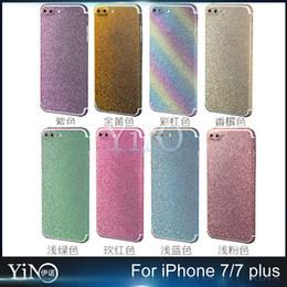 Wholesale Glitter Sticker Skin Film Full Body Bling Decal Shiny Diamond Powder Cover back Protectors Film For iPhone plus