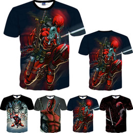 2018 American Comic Marvel Deadpool Printed 3D T Shirt Men Women Superhero Swag Funny T Shirts Summer Tee Tops T-Shirt