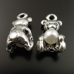 10PCS Lot Antique Silver Bear Alloy Pendant Charms Jewelry Finding 12*8*6mm AU36975 jewelry making