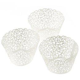 Wholesale pc New Little Vine Lace Laser Cut Cupcake Wrapper Liner Baking Cup Muffin amp Happy Kitchen Time forma de silicone Smile
