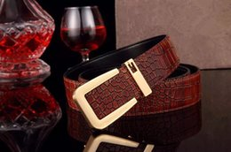 Wholesale New Designer Belt Brand New Tongue Buckle Head Advanced Crocodile Pattern Leather Belts Men And Women And Same Paragraph Denim Casual