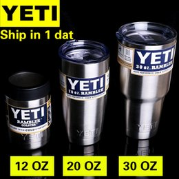 Wholesale Supply Origianl Yeti Cups Cooler Stainless Steel YETI Rambler Tumbler Cup Car Vehicle Beer Mugs Vacuum Insulated oz oz oz