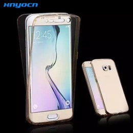 S6 Edge Soft TPU Transparent 360 Full Case For Samsung Galaxy S6 Edge   Plus Full Touch Screen Front+Back TWO-PIECE Hybrid Cover