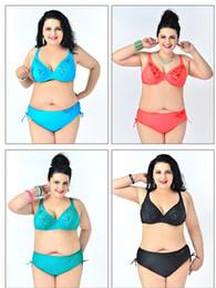 c277150f872 AAA New women plus size swimwear push up bikini set women plus size swimsuit  lady bathing suit sexy fat beach wear