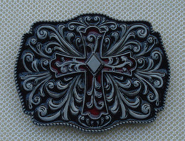Cross and Flower belt buckleSW-BY138 suitable for 4cm wideth belt with continous stock free shipping