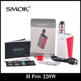 Wholesale Authentic SMOK H Priv W Mod and Starter Kit with Micro TFV4 Basic Tank Top Filling and Top Display Screen Innovative Fire Bar