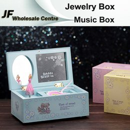 Wholesale Fashion Jewelry Box Music Box Birthday Gift Toys For Children Bless Animated Luxury Go Round Musical Rotate the girl Classic Music Box